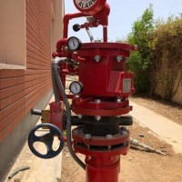 Fire pumps connection of the Commercial center with the Convention hall, and the Dar Zan suites with the Central Archive