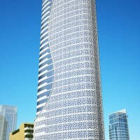 تصميم المبنى الرئيسي لشركة الخدمات الأرضية